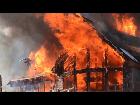 BBQ BURSTS INTO FLAMES! BURNS MAN AND DESTROYS MILLION DOLLAR HOME PROVO CANYON