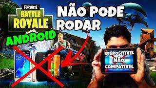 FORTNITE MOBILE ANDROID OFICIAL NÃO PODE RODAR EM APARELHOS FRACOS (MINHA OPINIÃO)