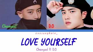 Chanyeol feat D.O (EXO) - Love Yourself (cover by Justin Bieber) English | Indonesia