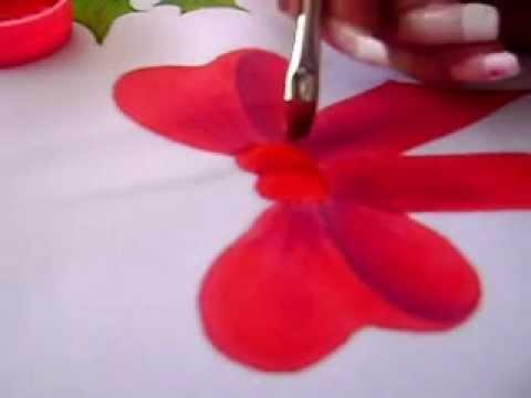 Pintura en tela navide a 2 youtube - Pintura en tela motivos navidenos ...