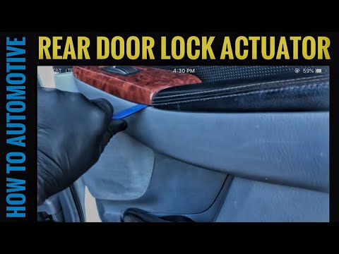 How to Replace the Rear Door Lock Actuator on a 2000-2006 Acura MDX