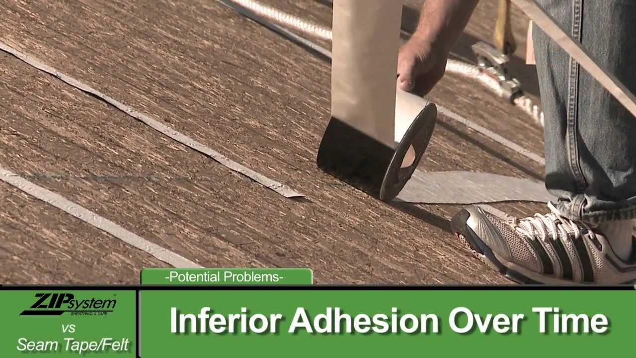 Zip System Roof Sheathing Vs Seam Tape And Underlayment Youtube