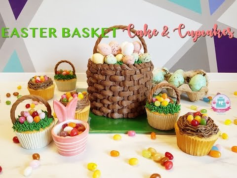 EASTER BASKET CAKE & CUPCAKES | Abbyliciousz The Cake Boutique
