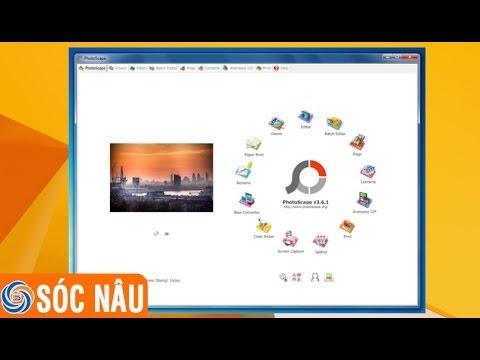 Cách download và cài đặt phần mềm xử lý ảnh PhotoScape