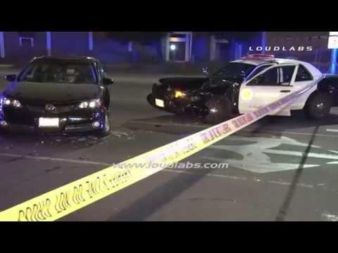 Deputy Traffic Collision / South El Monte   RAW FOOTAGE