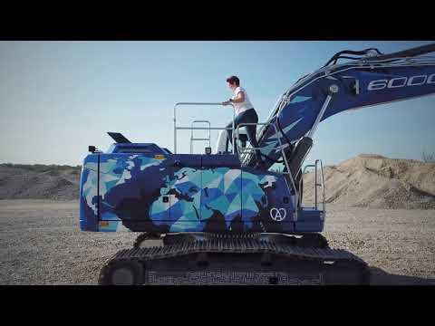 Liebherr  La 60.000a macchina per presentare la nuova generazione degli escavatori cingolati