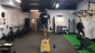 Single Arm Kettlebell Russian Step Up