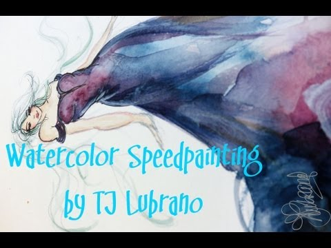 Watercolor Speedpainting Rainbow Fashion Fluffy Dress