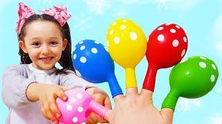 Öykü Learn Colors with Finger Family color Song - Funny Oyuncak Avı
