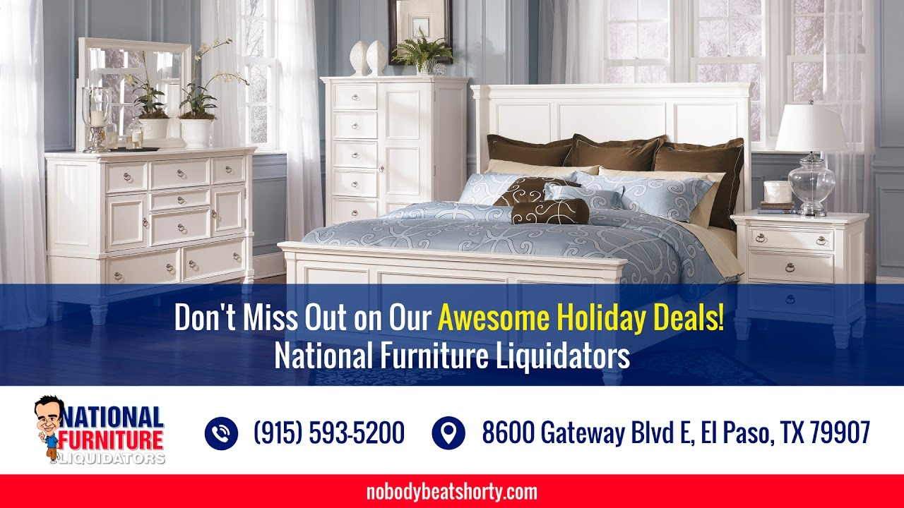 Don 39 t miss out on our awesome holiday deals national for Liquidated furniture sales