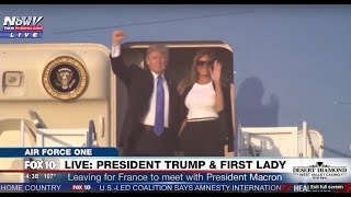 WATCH: President Trump And The First Lady Receive YUGE Applause Boarding Air Force One (FNN)