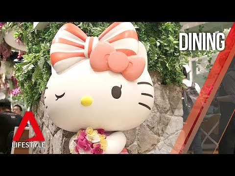 A look at Singapore's 24-hour Hello Kitty cafe - a world's f