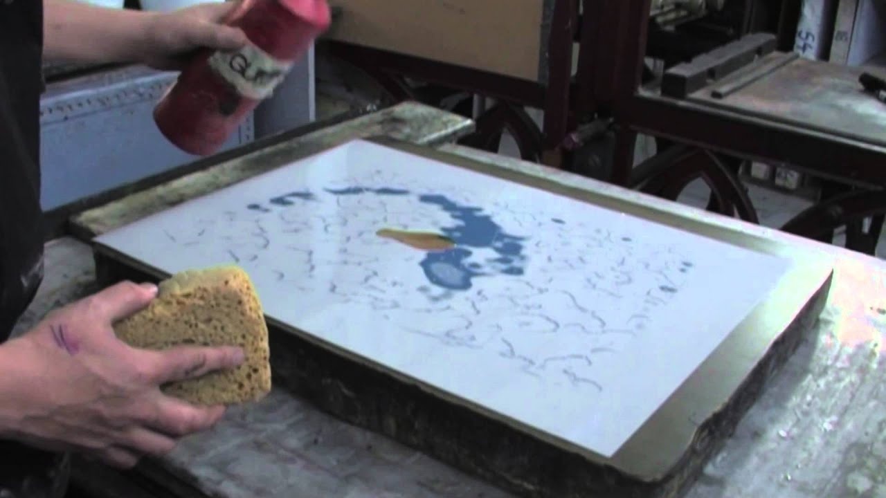 Plate Lithography at Edinburgh Printmakers & Plate Lithography at Edinburgh Printmakers - YouTube