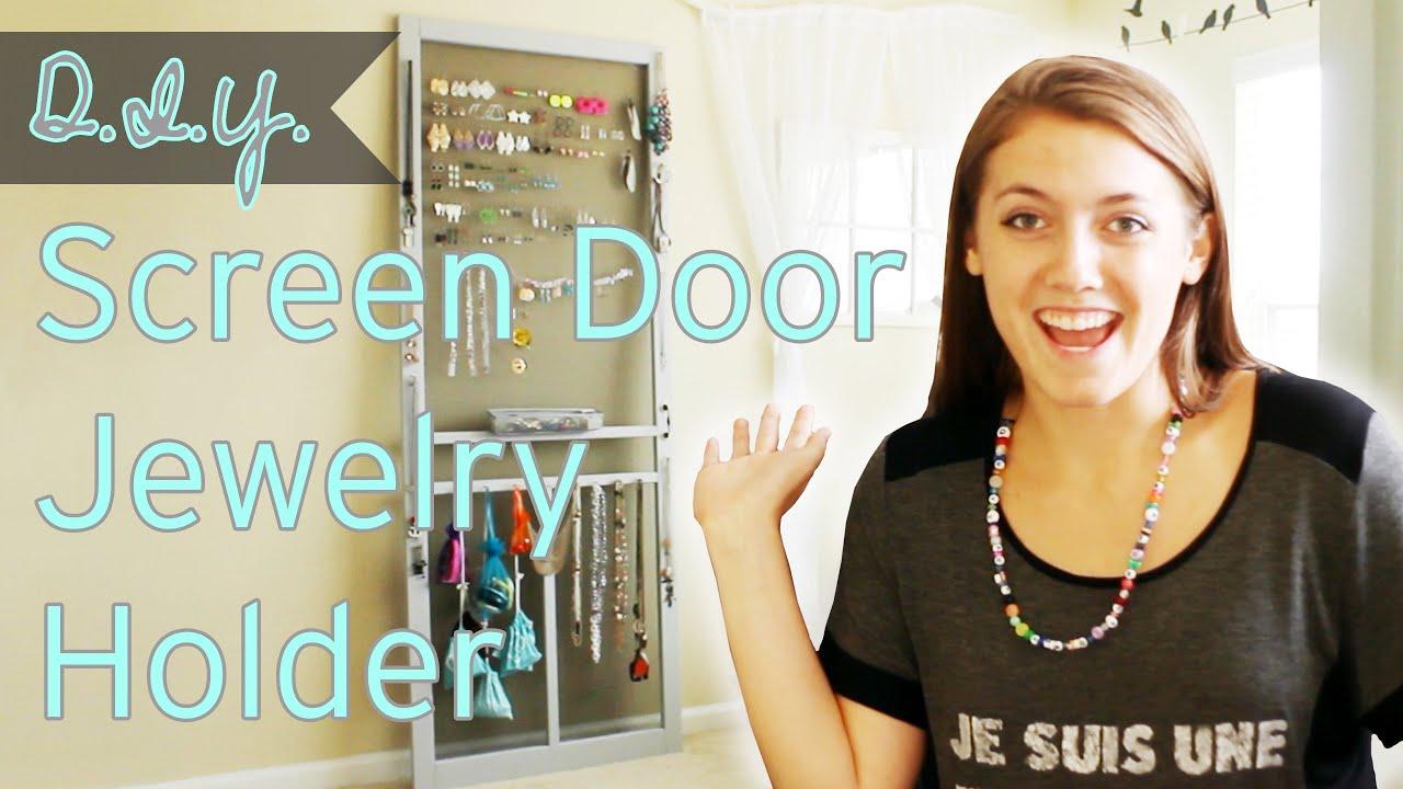 DIY Screen Door Jewelry Holder Stuff Jenna Does YouTube