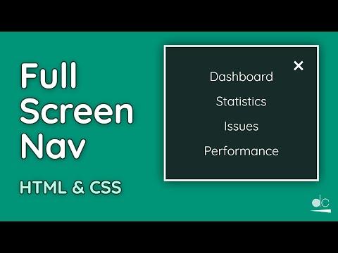 How to Create a Full Screen Navigation Menu - HTML, CSS & JS Tutorial (Web Design) thumbnail
