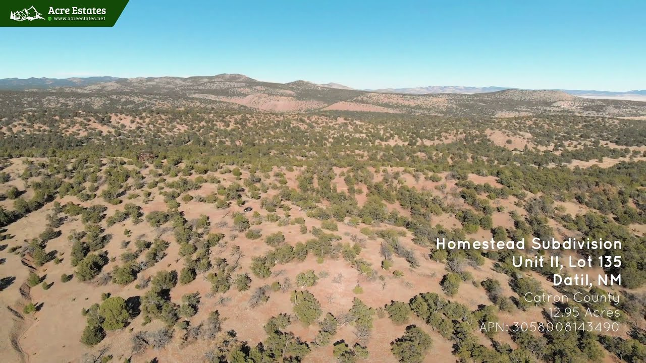 12.95 Acre Secluded Mountain Retreat Next to Cibola National Forest in Datil, NM.