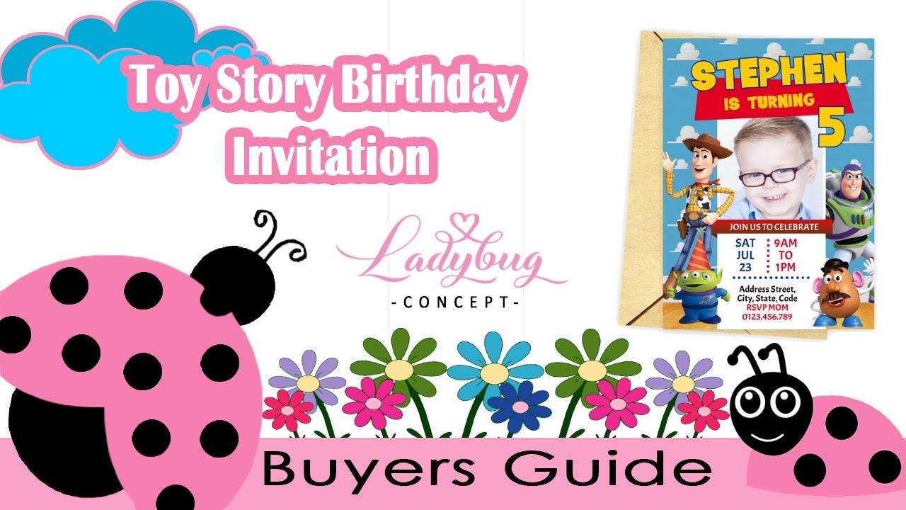 toy story birthday invitation diy