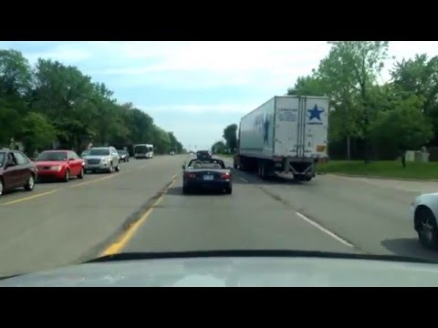Driving from Troy, Michigan to Beverly Hills, Michigan
