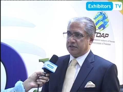 Mr. Tahir Raza Naqvi, Chief Executive - TDAP spoke with Exhibitors TV (Expo Pakistan 2012)