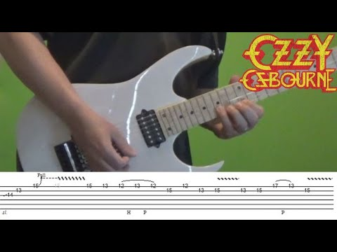 Bark at the Moon - Guitar Solo Lesson with Tabs (and new Ibanez Prestige!)