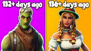 10 RARE SKINS You DIDN'T KNOW ABOUT in Fortnite... (Haven't seen for 100+ Days)