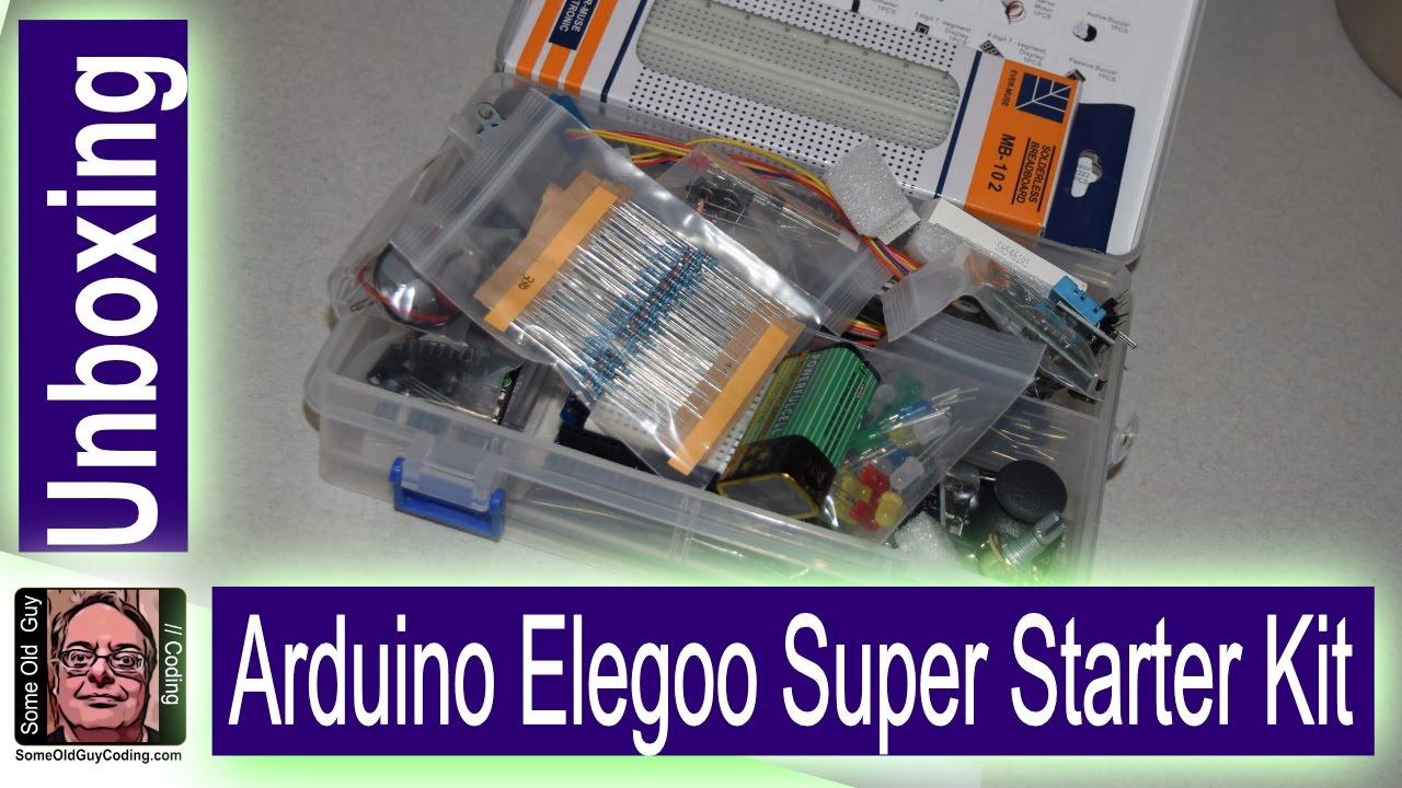 Arduino elegoo super starter kit unboxing youtube