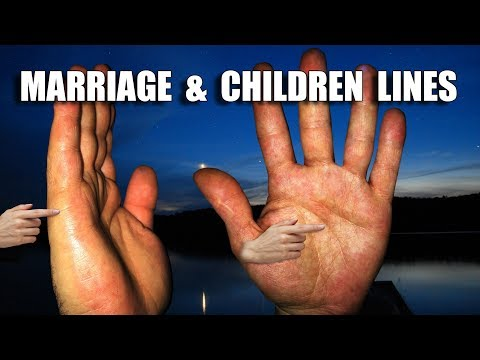 MARRIAGE & CHILDREN LINES Male Palm Reading  Palmistry #169
