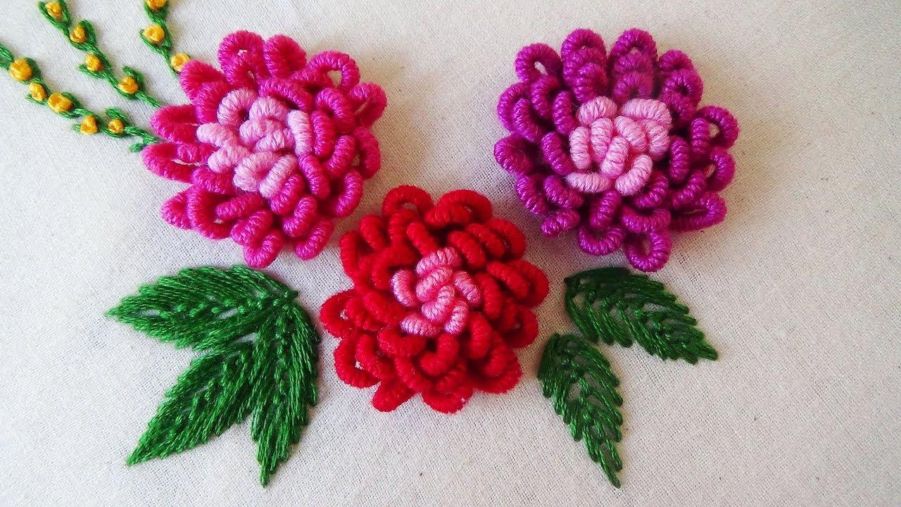 how to make bullion roses on smocking