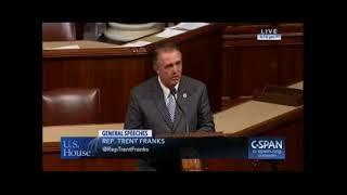 Rep. Trent Franks Delivers Speech On House Floor on Mueller/Uranium One