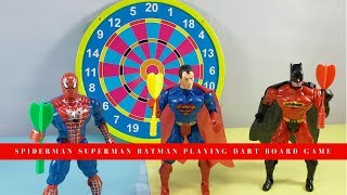 Spiderman Superman Batman Playing Dart Board Game/ Dart Board Review