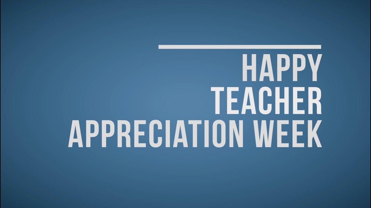 teacher appreciation message from dr carpenter youtube