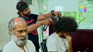 Uppum Mulakum Hair Cutting │Flowers│EP# 584