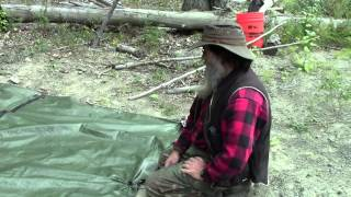 Survival Super Shelter   Using Tarp Buddy