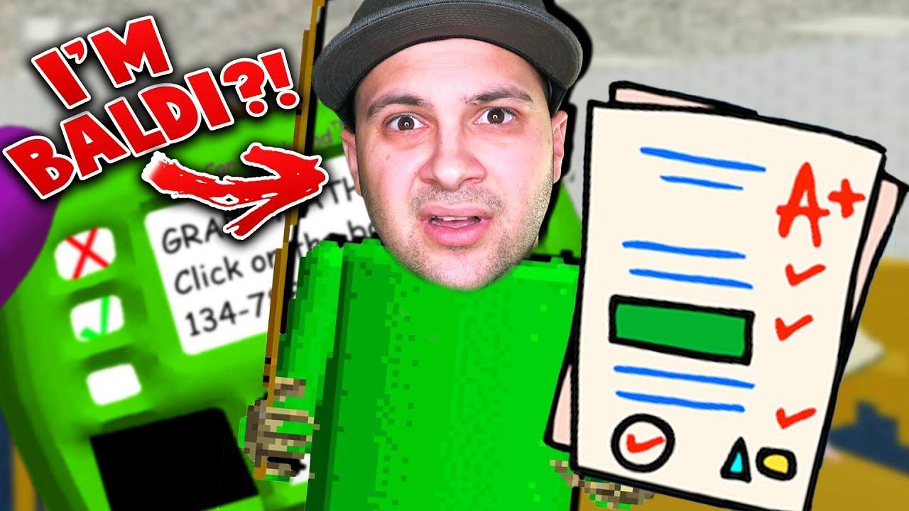 PLAYING AS BALDI?! I'M THE TEACHER NOW!   Baldi's Basics Gameplay (Baldi  Mod)