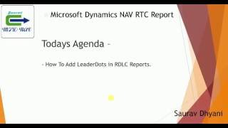How To Add LeaderDots in RDLC Reports