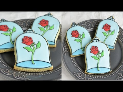Beauty And The Beast Enchanted Rose Cookies Haniela S