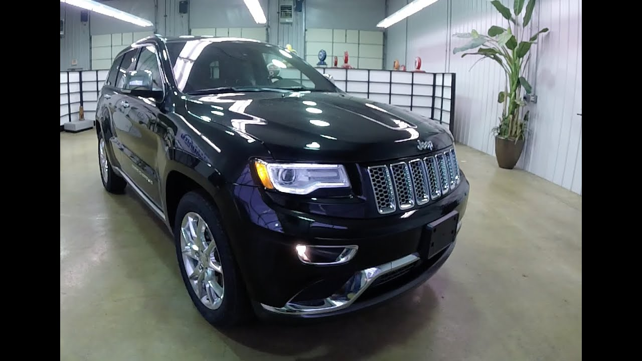 Jeep Cherokee White And Black >> 2015 Jeep Grand Cherokee Summit Black | Brand New Jeep Martinsville, IN | 17728 - YouTube