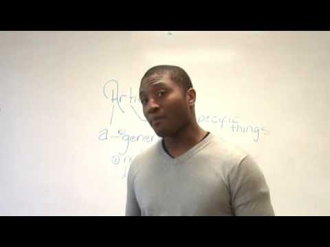 English Grammar - Articles - How to use A, AN, THE