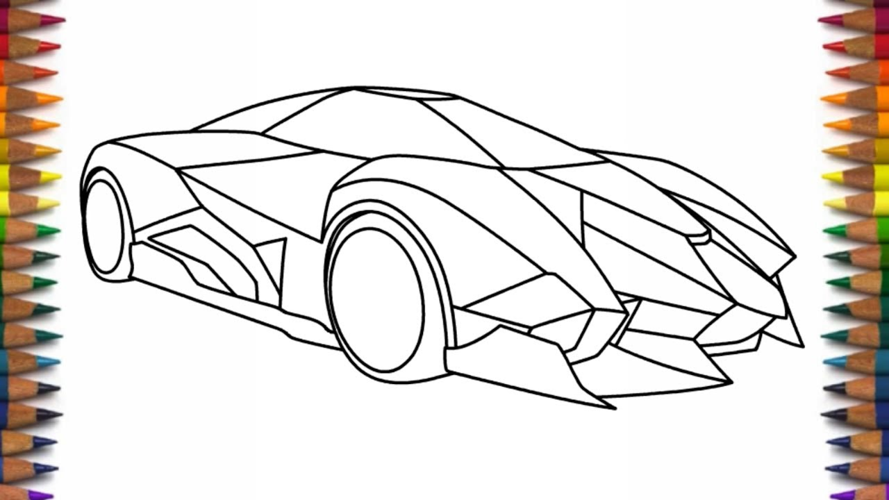 How To Draw A Cool Car Lamborghini Egoista Youtube