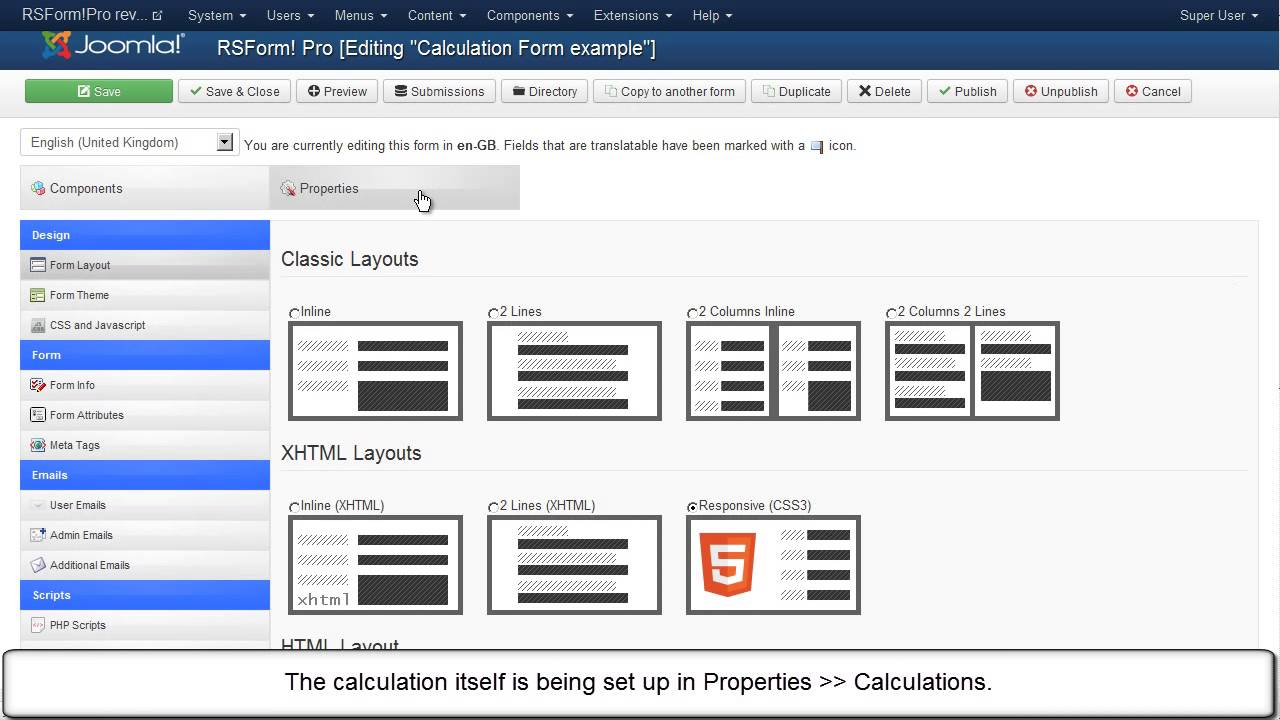 RSForm!Pro Calculations feature - YouTube