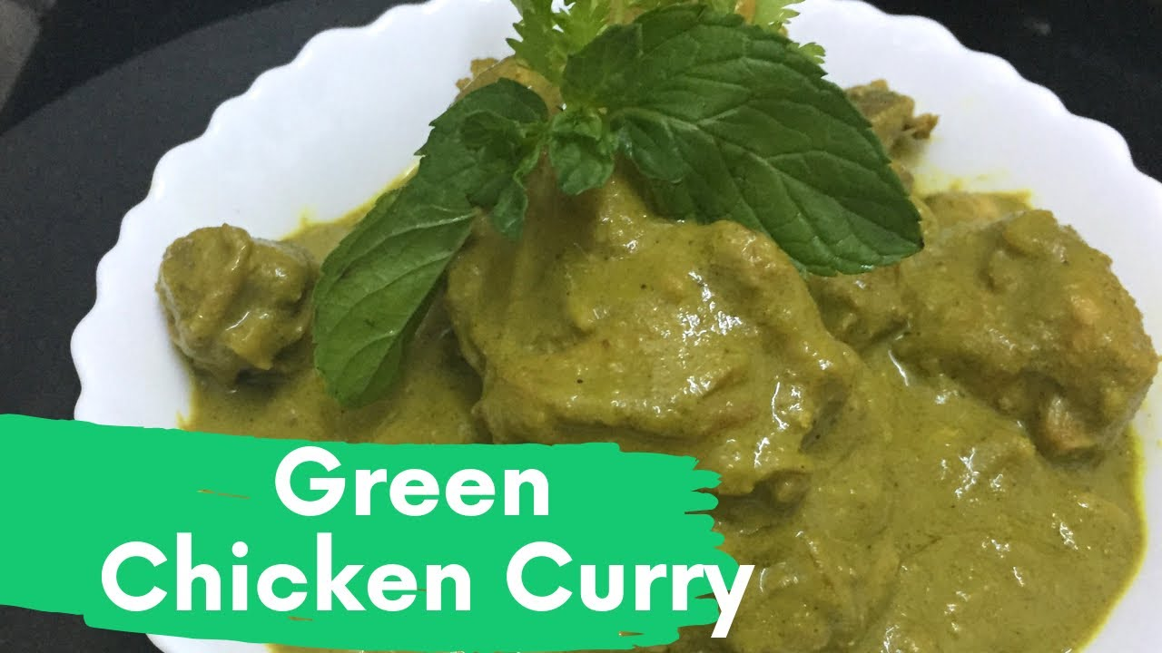 Easy Green Chicken curry/ Green Chicken Curry in malayalam ...