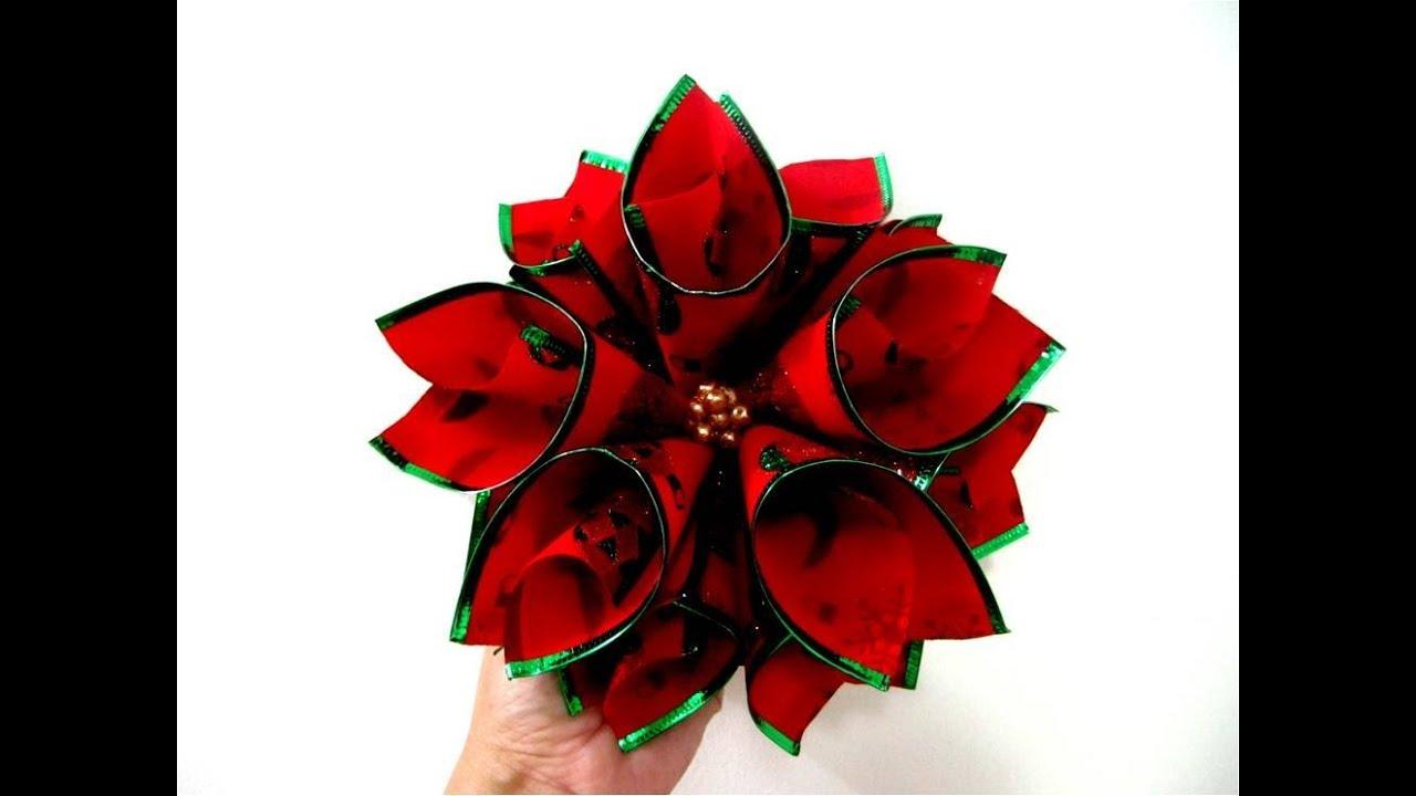moos flores de navidad nochebuena en cintas ribbons christmas flower youtube