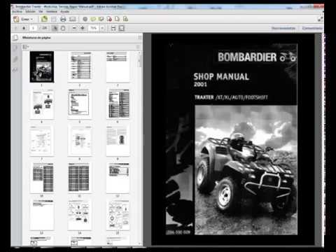 bombardier traxter workshop service repair manual rh youtube com 2006 Bombardier Rally 200 Bombardier Rally 200 Maintenance