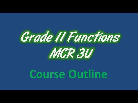 Grade 11 Functions Online (MCR3U)