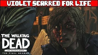 Violet is Scarred for Life - THE WALKING DEAD SEASON 4 EPISODE 4