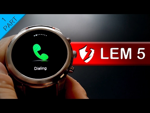 lemfo lem5 android 5 1 smartwatch first look doovi. Black Bedroom Furniture Sets. Home Design Ideas