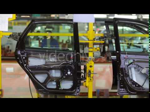 Door Cars On The Embly Line Production Stock Footage Videohive 15215522