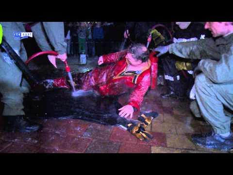 Stuntman Chuck Borden in Raalte niet lang genoeg in brand, geen record
