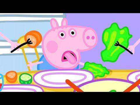 Peppa Pig In Hindi - Lunch - Dopahar Ka Khaana - हिंदी Kahaniya - Hindi Cartoons For Kids