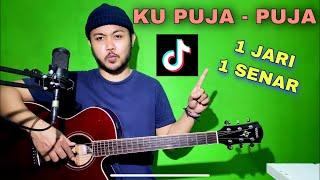 Download lagu Tutorial Melodi (KU PUJA - PUJA TIKTOK) cuman pake 1 JARI 1 SENAR (Guitar)